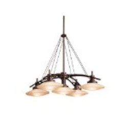 "Structures Collection Olde Bronze Contemporary 5-Light 30"" Chandelier Kichler 2055OZ"