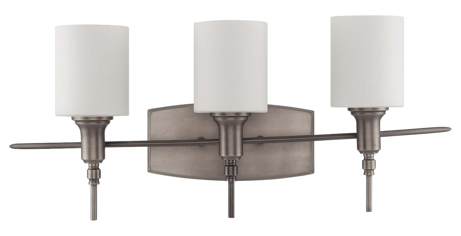 Vanity Lights Craftmade : Craftmade 3 Light Vanity Antique Nickel 37203-AN From Meridian Collection