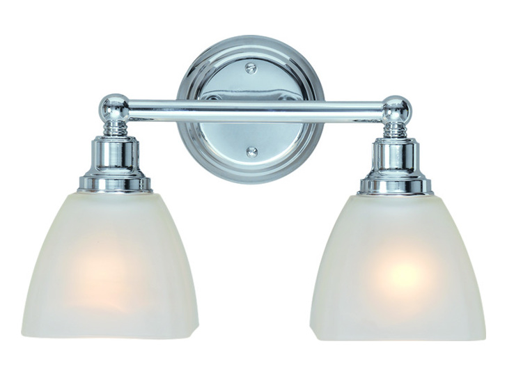 Vanity Lights Craftmade : Craftmade Two Light Chrome Vanity Chrome 26602-CH From Bradley Collection