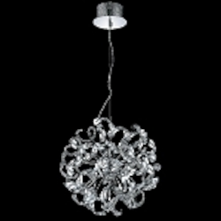 "Tiffany Collection 9-Light 19"" Chrome Crystal Pendant Chandelier 2068D19C/RC"
