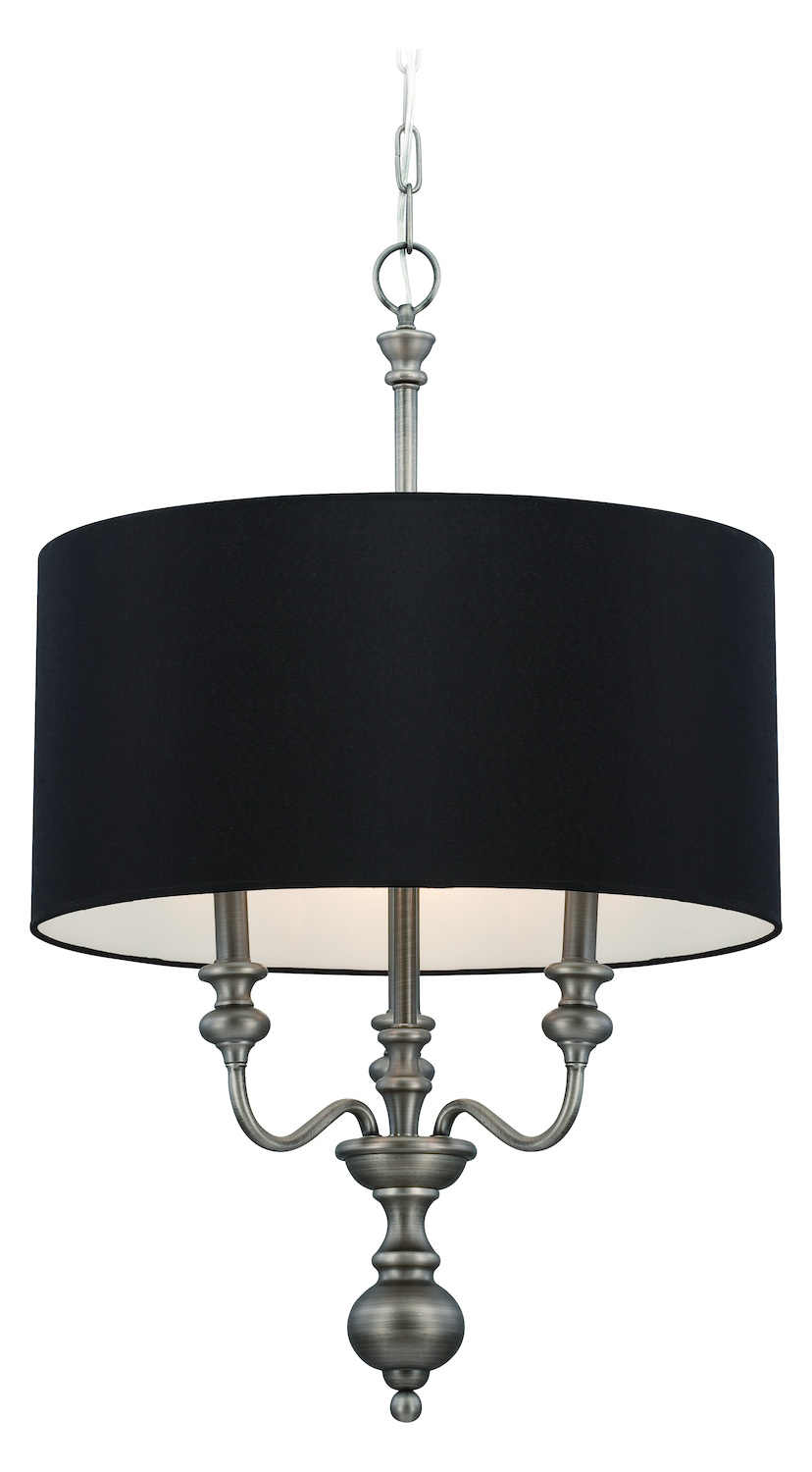 nickel black shade drum shade chandelier from willow park collection