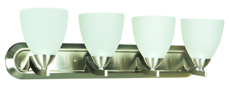 Vanity Lights Craftmade : Craftmade 4 Light Vanity Satin Nickel 37704-SN From Almeda Collection