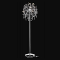 "Astro Collection 9-Light 60"" Chrome Crystal Floor Lamp 2075FL18C"