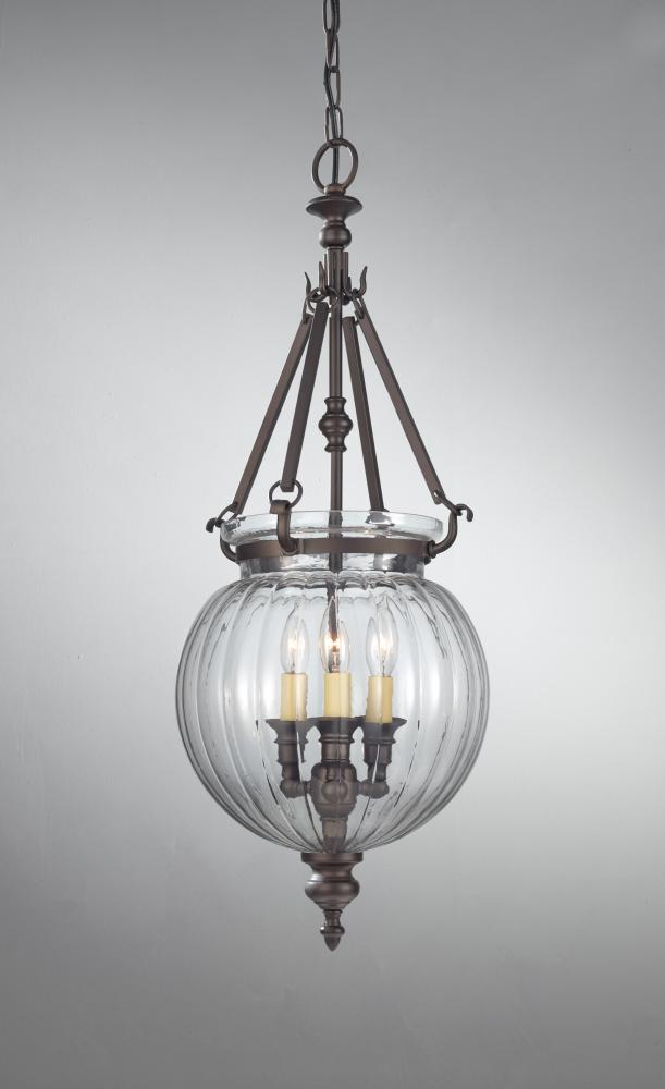 Foyer Lighting Oil Rubbed Bronze : Feiss three light oil rubbed bronze clear glass foyer hall