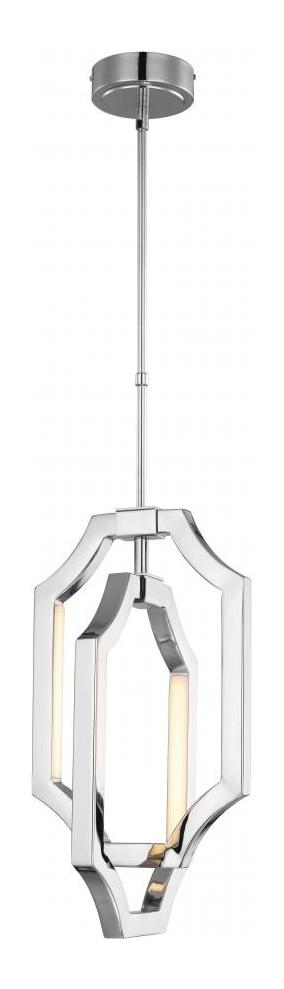 Feiss 4 Light Mini Audrie Pendant Polished Nickel