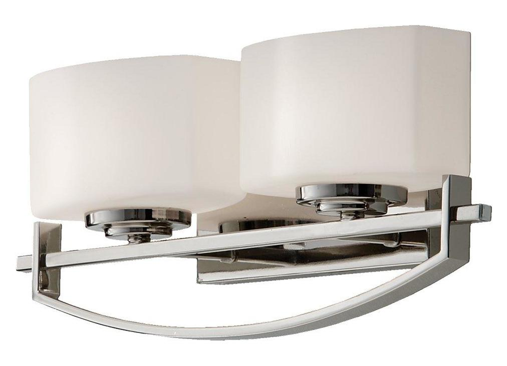 Vanity Lights Polished Nickel : Feiss Two Light Polished Nickel Opal Etch Glass Vanity Polished Nickel VS18202-PN From Bleeker ...