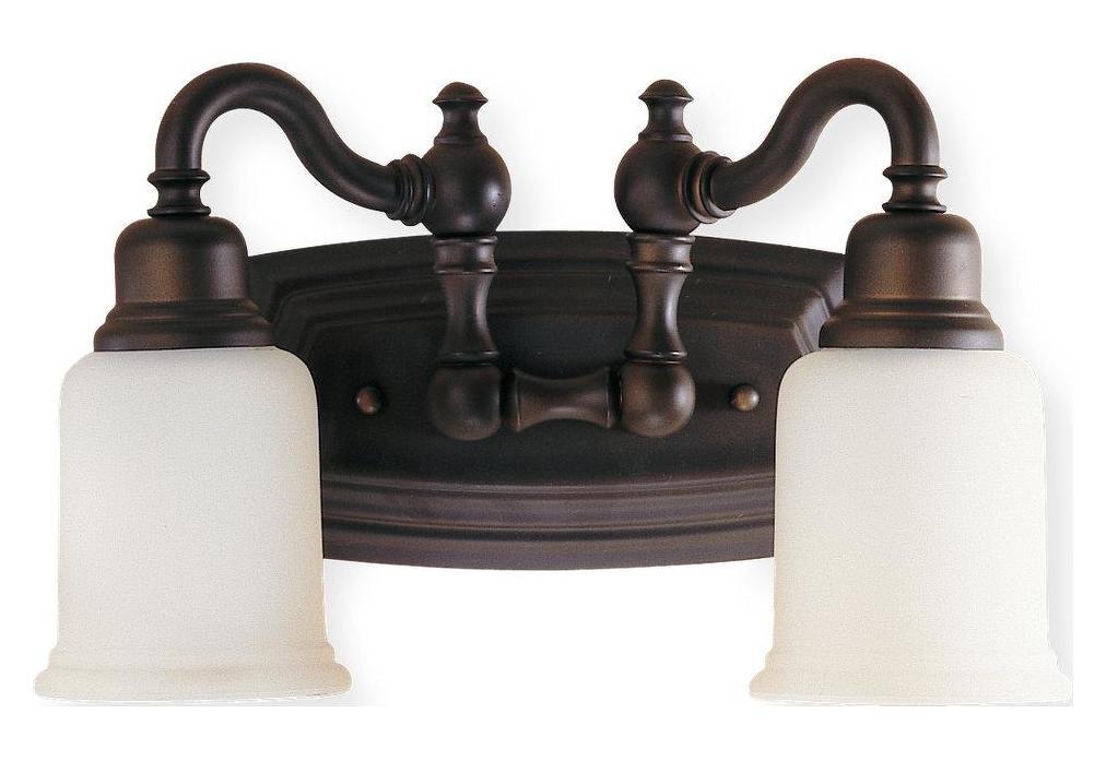 Oil Rubbed Bronze Three Globe Bathroom Vanity Light Bar: Feiss Two Light Oil Rubbed Bronze Opal White Etched Glass