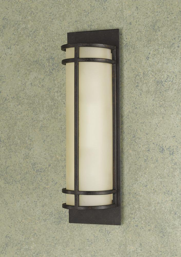 Ribbed Glass Wall Lights : Feiss Two Light Grecian Bronze Amber Ribbed Glass Wall Light Grecian Bronze WB1282GBZ From ...