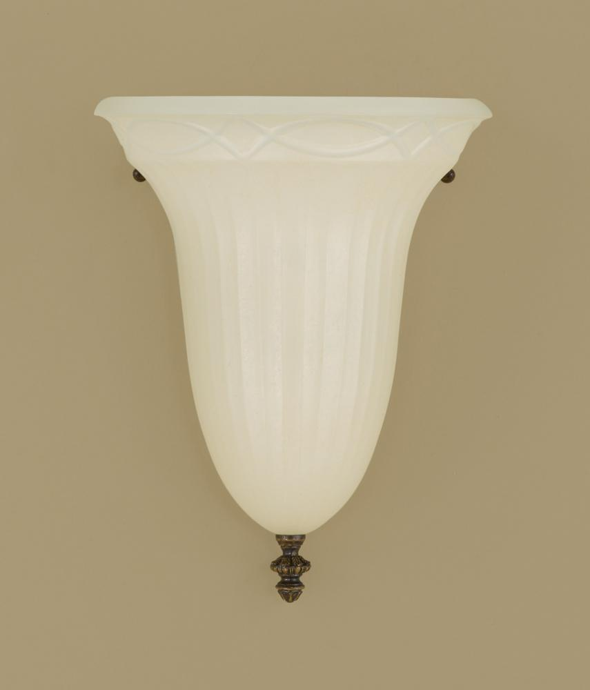 Murray Feiss Wall Sconces: Feiss One Light Walnut Amber Snow Scavo Glass Wall Light