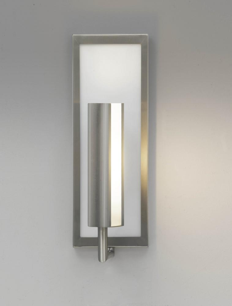 Feiss One Light Brushed Steel Wall Light Brushed Steel WB1451BS From Mila Collection