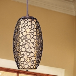 "Meridian Collection 2-Light 37"" Umber Bronze Pendant with Dusty White Glass 21341DWUB"