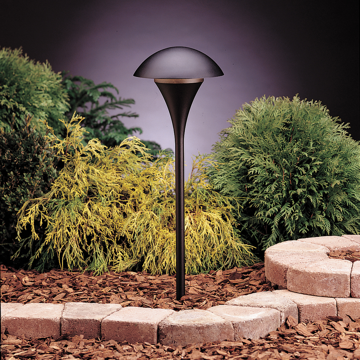 Kichler Landscape One Light Textured Black Path Light