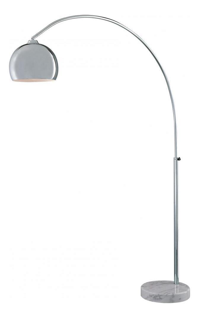 Minka George Kovacs Chrome 1 Light Arc Floor Lamp From The