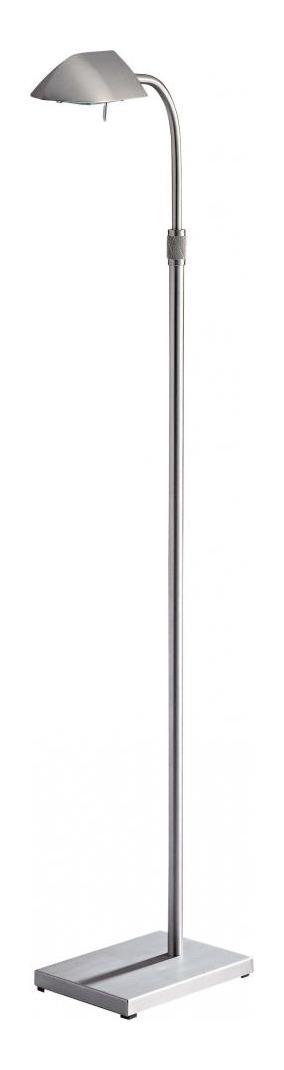 Minka george kovacs matte brushed nickel 1 light swing arm floor lamp from the wah hoo - Hoo showroom ...