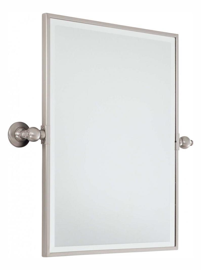 minka lavery brushed nickel standard rectangle pivoting bathroom mirror brushed nickel 1440 84. Black Bedroom Furniture Sets. Home Design Ideas