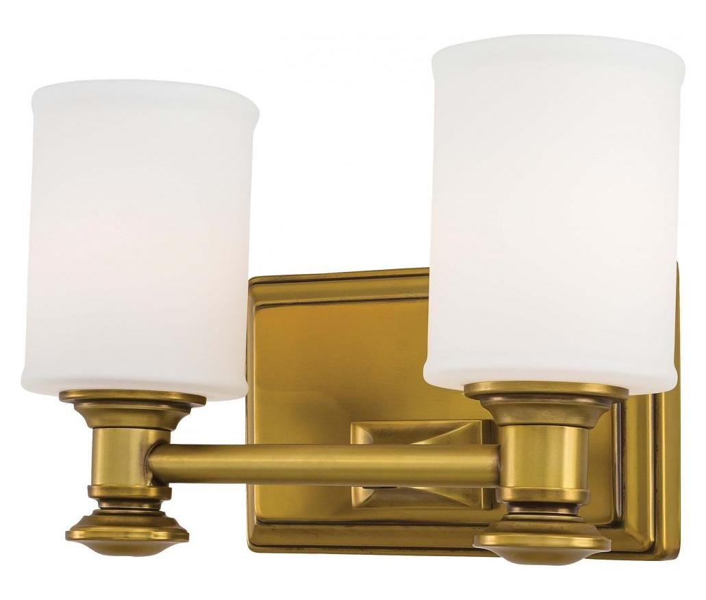 Vanity Lights Gold : Minka-Lavery 2 Light Bath Vanity Light With Gold Finish Liberty Gold 5172-249 From Harbour Point ...