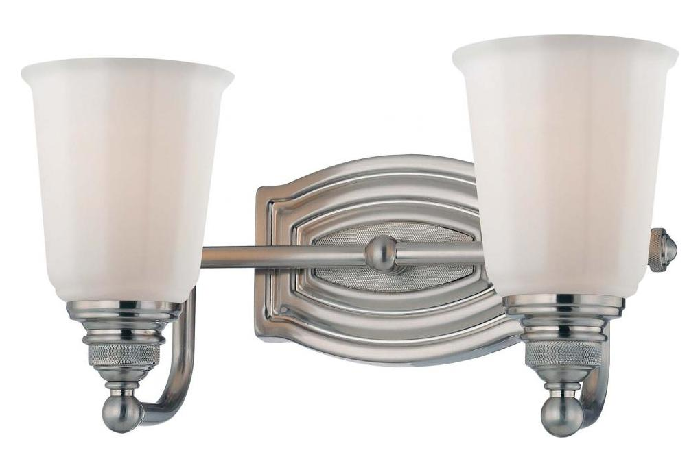 Progress Lighting Lucky Collection 4 Light Brushed Nickel: Minka-Lavery Brushed Nickel 2 Light Bathroom Vanity Light
