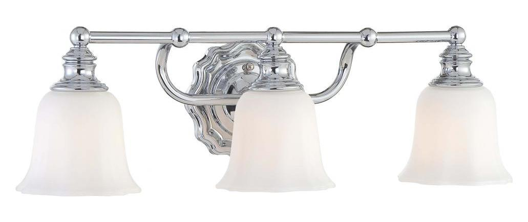 Minka lavery chrome 3 light bathroom vanity light from the felice collection chrome 6593 77 from for Minka bathroom light fixtures