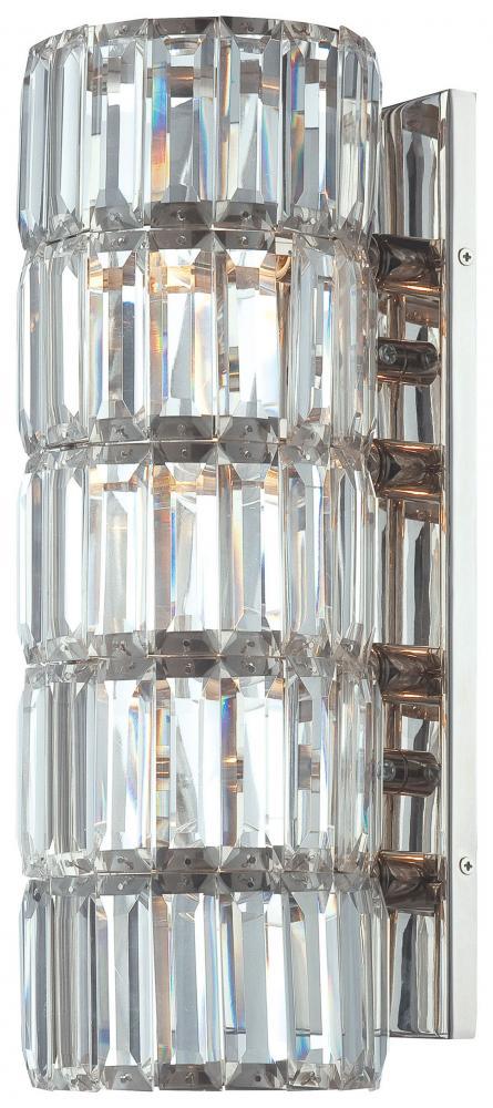 Minka Metropolitan Polished Nickel 4 Light Wall Sconce
