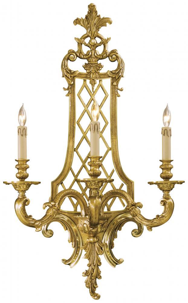 Gold Finish Wall Sconces : Minka Metropolitan Minka Metropolitan 3 Light Wall Sconce In French Gold Finish French Gold ...