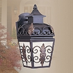 Berkshire Collection 1-Light Antique Honey Linen Glass Bronze Finished Solid Brass Outdoor Wall Lantern 2191-07