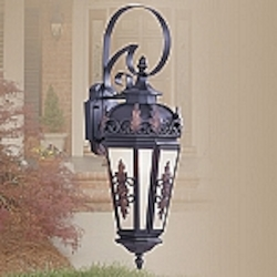 Berkshire Collection 1-Light Antique Honey Linen Glass Bronze Finished Solid Brass Outdoor Wall Lantern 2192-07