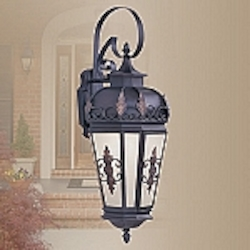 Berkshire Collection 1-Light Antique Honey Linen Glass Bronze Finished Solid Brass Outdoor Wall Lantern 2193-07