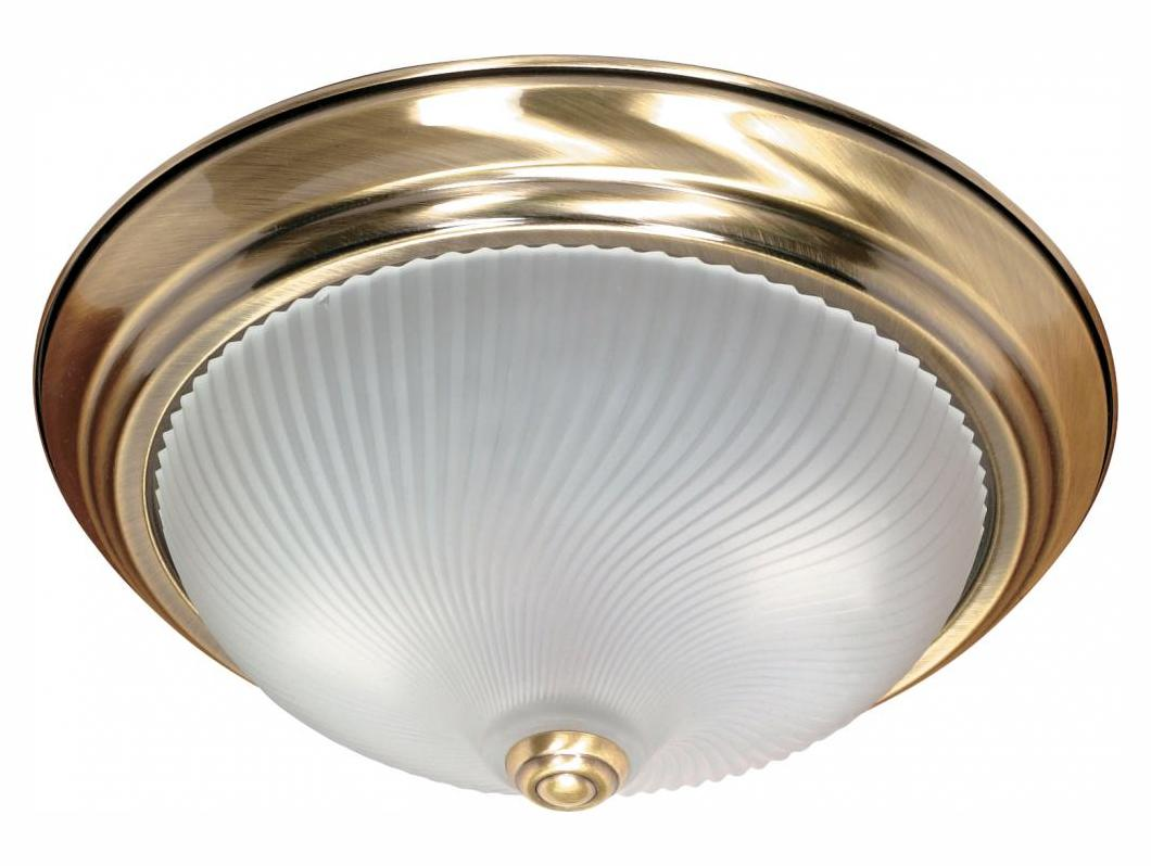 Nuvo 2 Light - 13In. - Flush Mount - Frosted Swirl Glass ...