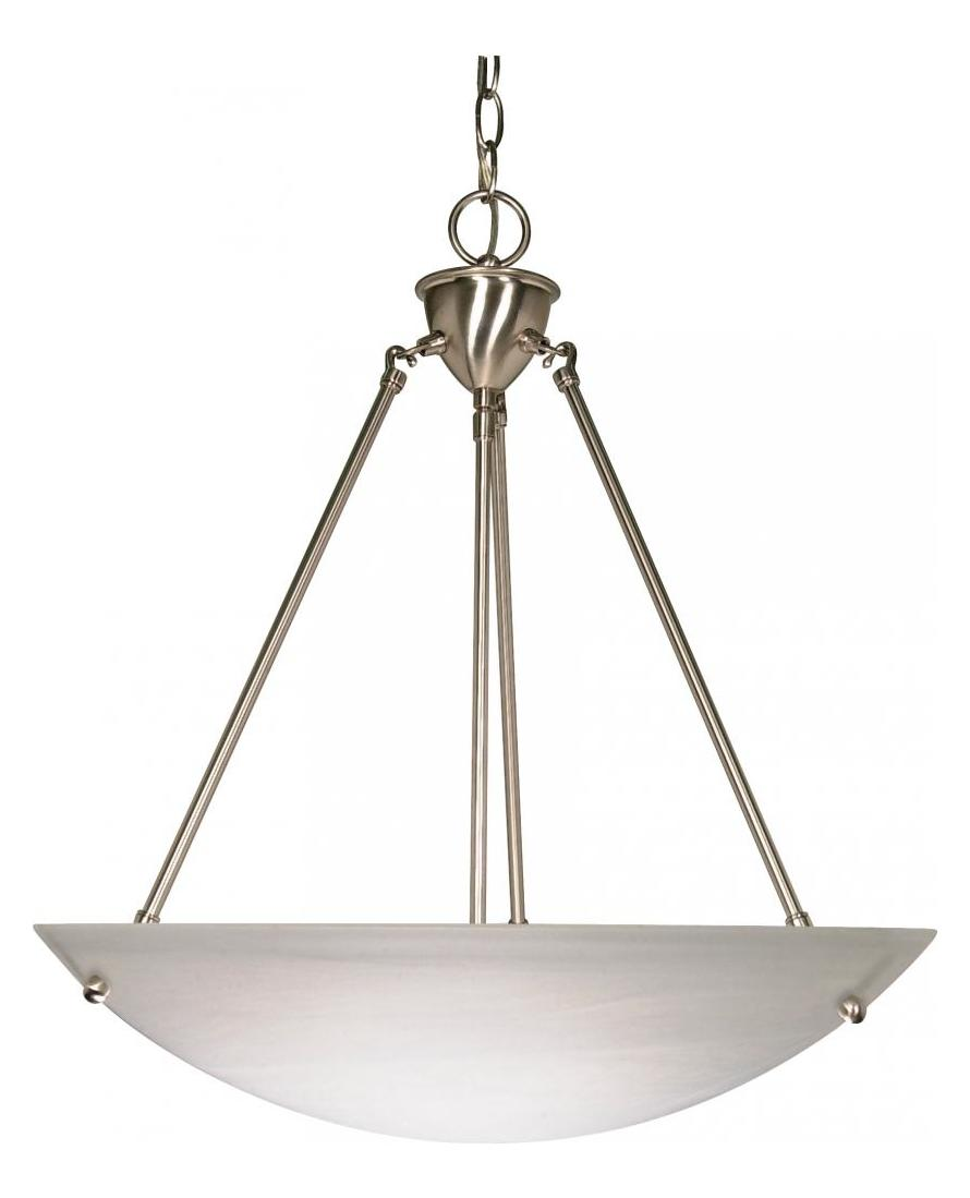 Nuvo 3 Light 23in Pendant Alabaster Glass Bowl