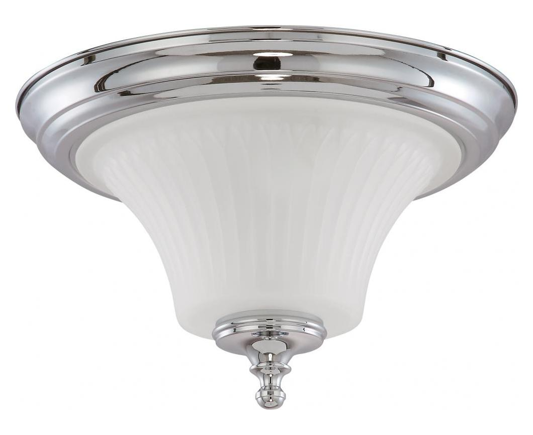 Nuvo Teller 2 Light Flush Dome Fixture W Frosted Etched