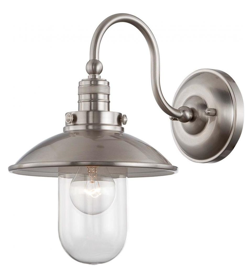 Wall Sconces Minka Lavery : Minka-Lavery Downtown Edison 1 Light Wall Sconce Brushed Nickel 71162-84 From Downtown Edison ...