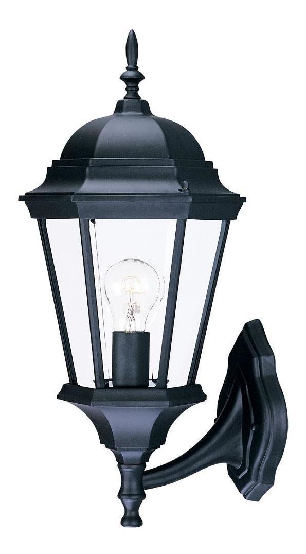 Acclaim Lighting One Light Matte Black Wall Lantern Matte Black / Clear Beveled Glass 5250BK ...