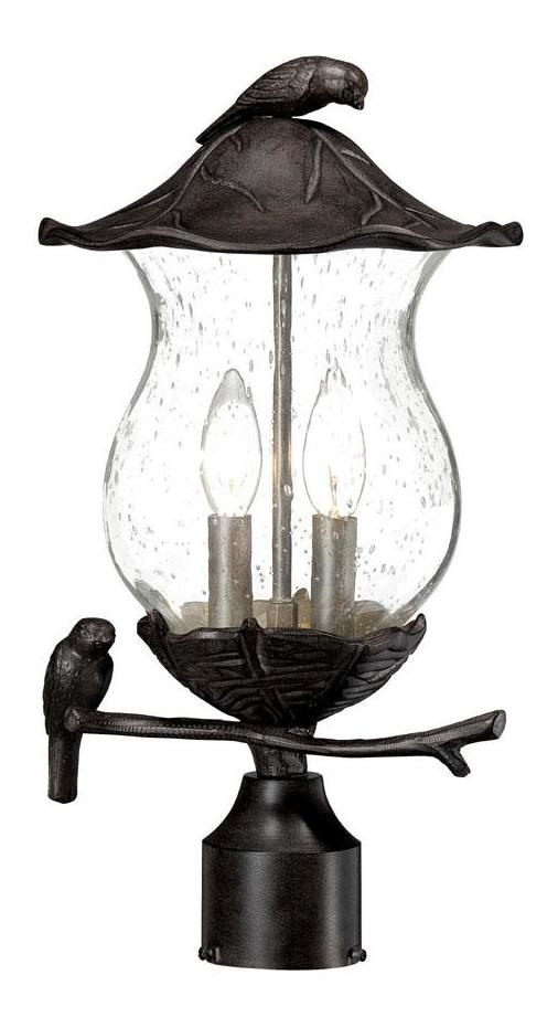 acclaim lighting avian collection post mount 2 light
