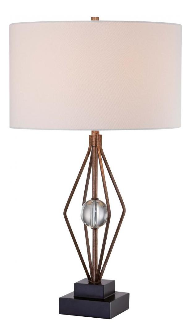 Minka Lavery Brown 1 Light 27 5in Height Accent Table