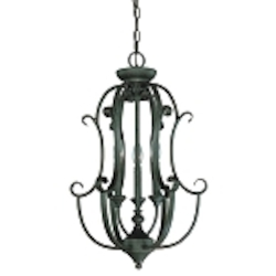 "Barrett Place Collection 3-Light 24"" Mocha Bronze Foyer 24233-MB"