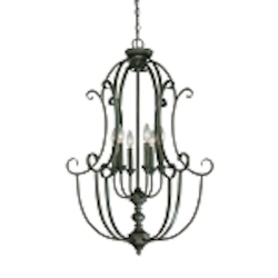 "Barrett Place Collection 6-Light 36"" Mocha Bronze Foyer 24236-MB"