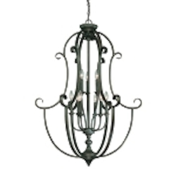 "Barrett Place Collection 9-Light 44"" Mocha Bronze Foyer 24239-MB"