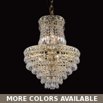 "Invisible Design 6-Light 19"" Chrome or Gold Mini Chandelier with European or Swarovski Crystals SKU# 10359"