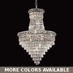 "Invisible Design 22-Light 31"" Chrome or Gold Chandelier with European or Swarovski Crystals SKU# 10361"