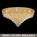 "Invisible Design 18-Light 30"" Chrome or Gold Ceiling Flush Mount with European or Swarovski Crystals SKU# 10370"
