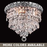 "Invisible Design 4-Light 10"" Chrome or Gold Ceiling Flush Mount with European or Swarovski Crystals SKU# 10363"