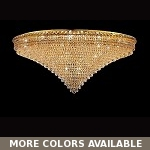 "Invisible Design 33-Light 48"" Chrome or Gold Ceiling Flush Mount with European or Swarovski Crystals SKU# 10372"
