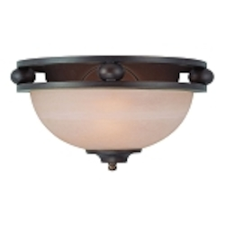 "Seymour Collection 1-Light 13"" Old Bronze Wall Sconce with Painted Alabaster Glass Shade 25421-OB"