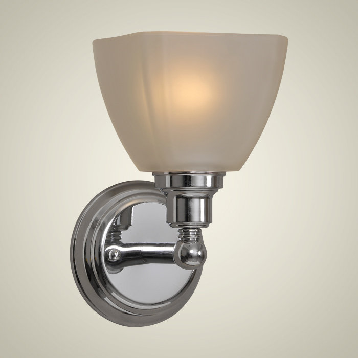 Chrome Wall Sconces With Shade : Bradley Collection 1-Light 9