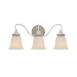 "Zoe Collection 3-Light 23"" Antique Linen Bath Vanity Fixture with Glass Shade 27303-ATL"