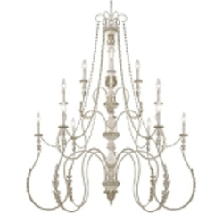 "Zoe Collection 12-Light 52"" Antique Linen Chandelier 27312-ATL"