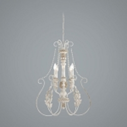 "Zoe Collection 6-Light 30"" Antique Linen Chandelier 27336-ATL"