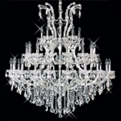 "Maria Theresa 41-Light 52"" Chrome or Gold Chandelier with Swarovski or European Crystals SKU# 10411"