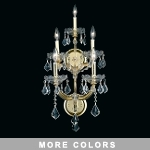 Maria Theresa Design 5-Light 25'' Gold or Chrome Wall Sconce Dressed with European or Swarovski Crystals SKU# 10417