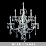 Maria Theresa Design 7-Light 27'' Chrome or Gold Wall Sconce Dressed with Swarovski or European Crystals SKU# 10418